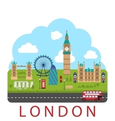 London England Urban Background vector image