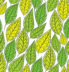 Seamless floral background green leaves seamless vector image