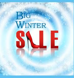 Banner big winter sale poster vector