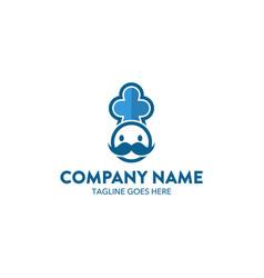 chef logo-1 vector image