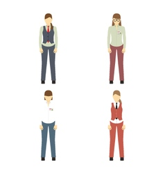 Female figures avatars Business people icons vector image vector image