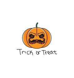 halloween-fruit vector image