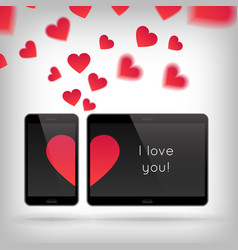 love on gadget vector image vector image