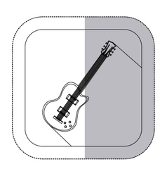 middle shadow monochrome sticker with electric vector image vector image