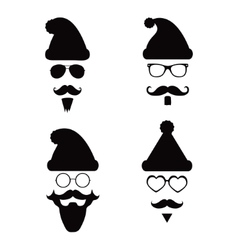 Santa Klaus fashion silhouette hipster style vector image vector image