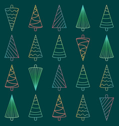 seamless pattern with neon christmas trees vector image vector image
