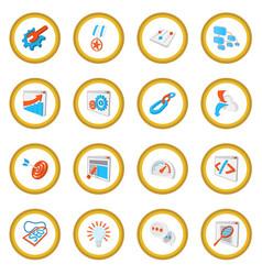 Seo 16 cartoon icon circle vector