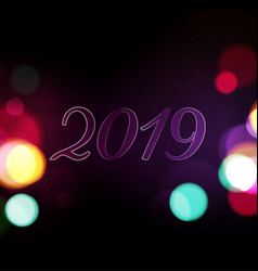 2019 night lights abstract background vector