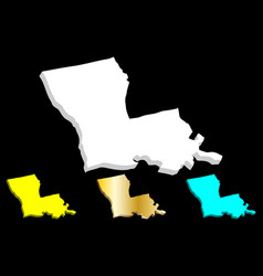 3d map of louisiana vector image