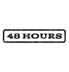 48 hours watermark stamp vector image