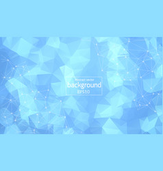 Abstract soft blue polygonal space background vector