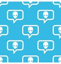 Alien message pattern vector image