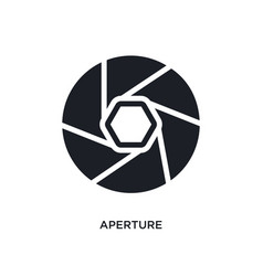Aperture isolated icon simple element from vector