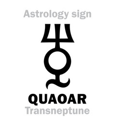 Astrology planetoid quaoar vector