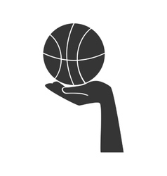 Basketball ball hand vector