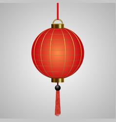 chinese hanging red lanterns vector image