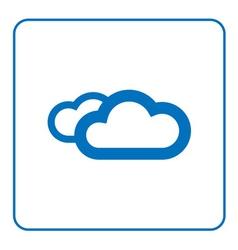 Clouds icon cartoon vector image