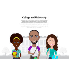 college and univercity vector image