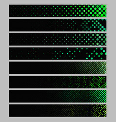 Color abstract dot pattern rectangular web banner vector