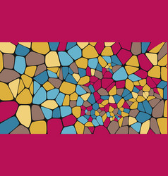 Colorful voronoi abstract geometric background vector