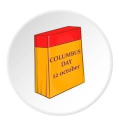 Columbus day calendar icon cartoon style vector image