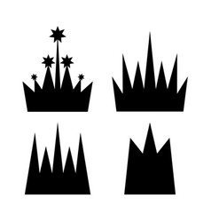 crown icon collection vector image