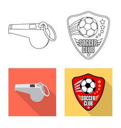 Design of soccer and gear logo set of vector