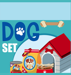 different accessories for dog vector image