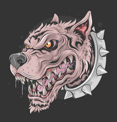 dog brutal head punk vector image