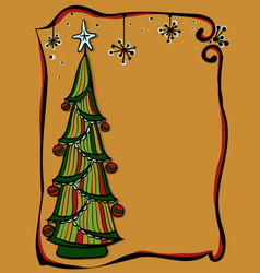 doodle style new year tree vector image