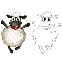 Doodles drafting animal for sheep vector
