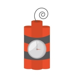 dynamite sticks mining tnt clock vector image