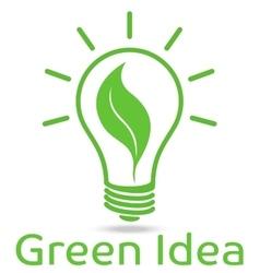 Eco light bulb design vector image