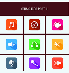 flat design music icon part ii vector image
