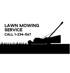 Flat lawn mowing service vector