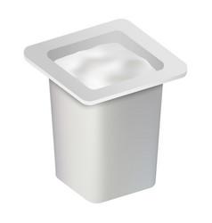 fresh yogurt box mockup realistic style vector image