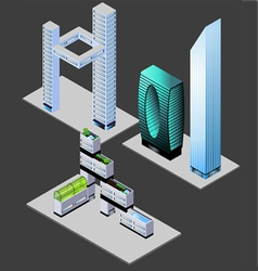 futuristic buildings vector image