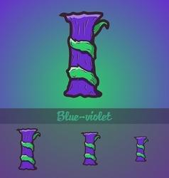 Halloween decorative alphabet - I letter vector