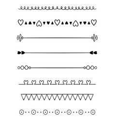 Hand drawn dividers vector
