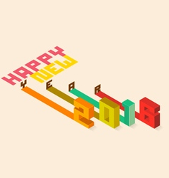 Happy New Year 2016 Isometric styler vector image