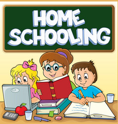 Home schooling theme image 3 vector