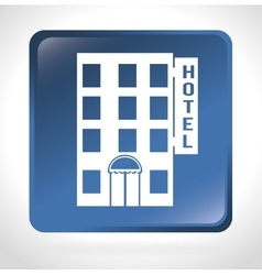 hotel building place isolated icon vector image