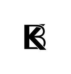 Initials letter kb and bk logo vector