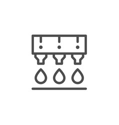 Ink printing line icon vector