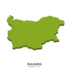 Isometric map of Bulgaria detailed vector