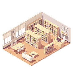 Isometric university library vector