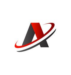 letter a logo slice logo design concept template vector image