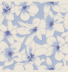 Light blue floral seamless pattern vector