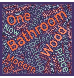 London builders bathroom in wood Part one text vector