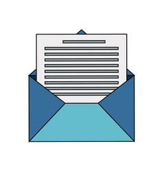 mail envelope icon image vector image